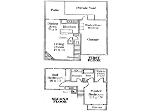 Two Story Townhome with Large Yard