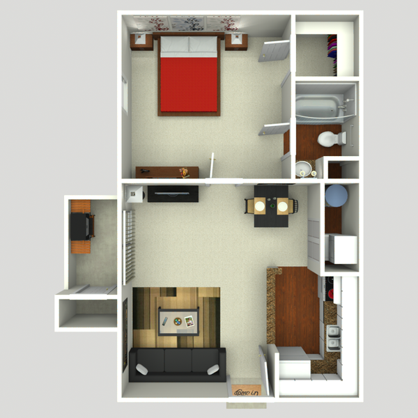 One Bedroom One Batch 564 sq ft