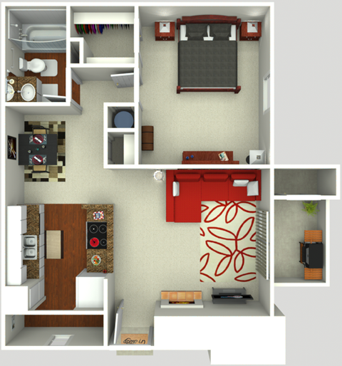 One Bedroom One Batch 700 sq ft