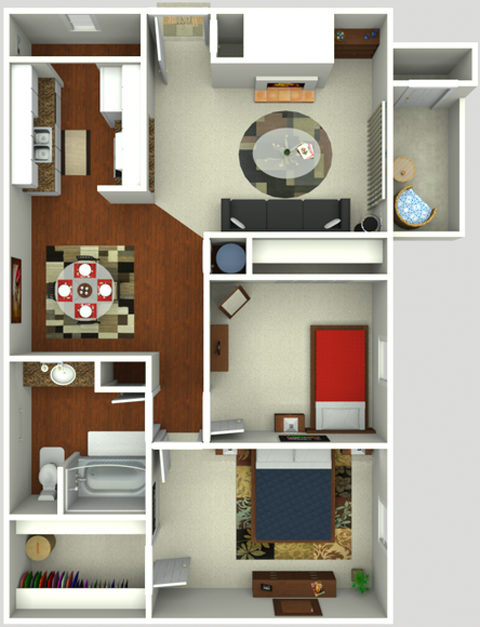 2 Bedroom 1 Bath  850 sq ft