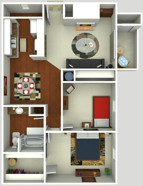 2 Bedroom One Batch  850 sq ft