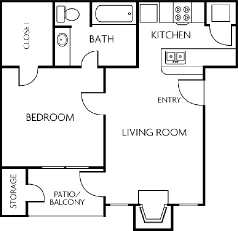 1 Bedroom_Trails of Towne Lake