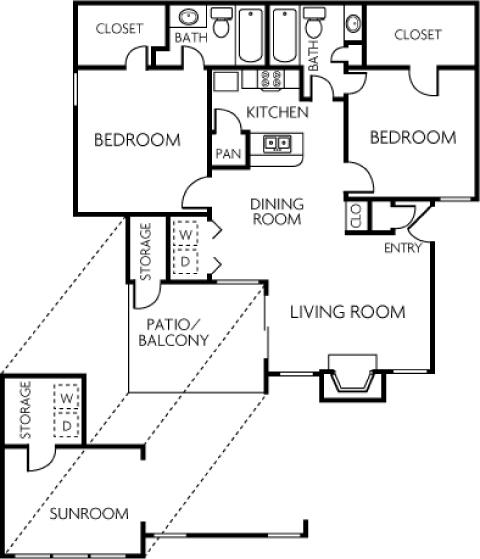 2 Bedroom A_Trails of Towne Lake