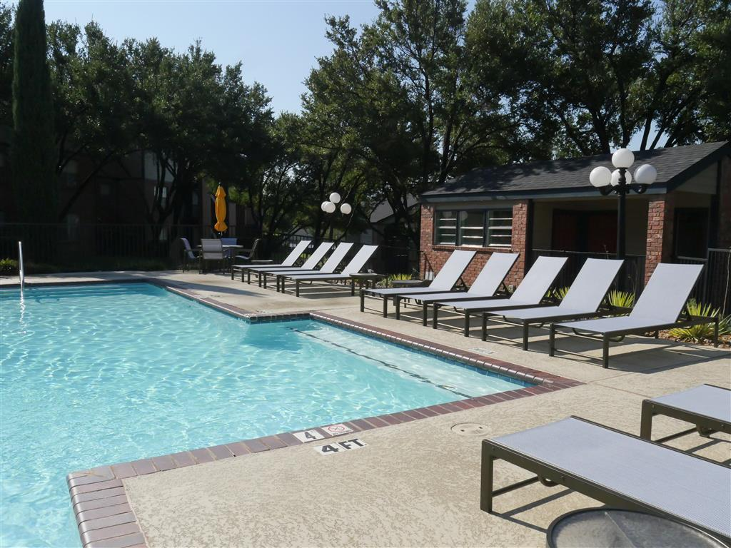 Pool Side Relaxing Area Trails of Towne Lake,1147 Esters Road Irving, Texas, TX