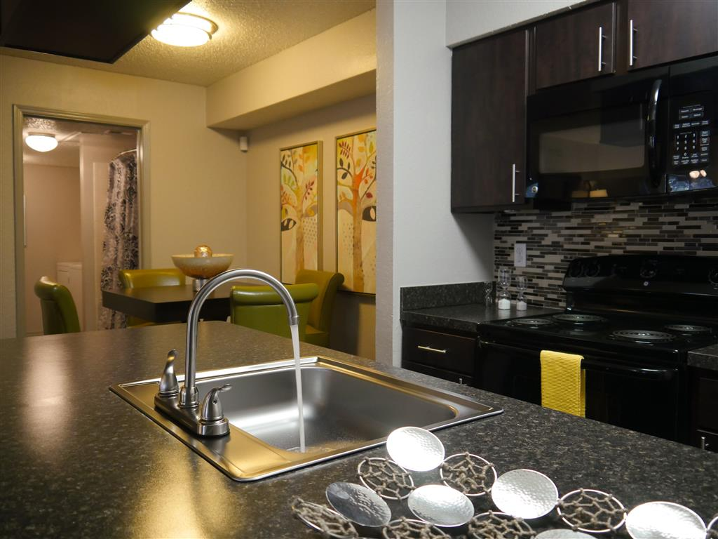 Fully equipped kitchen at Trails of Towne Lake,1147 Esters Road Irving, Texas,75061