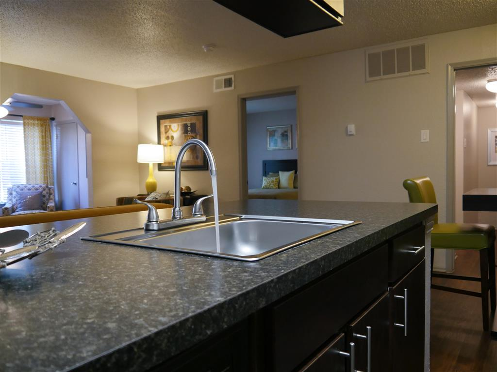New Countertops and Cabinets at Trails of Towne Lake,1147 Esters Road Irving, Texas