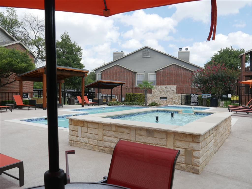 Poolside Dining Tables available near Swimming Pools At Veridian Place,4849 Haverwood Lane,Dallas, TX, 75289