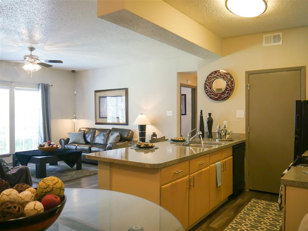 New Countertops and Cabinets available in the Apartments at Veridian Place, Dallas, TX
