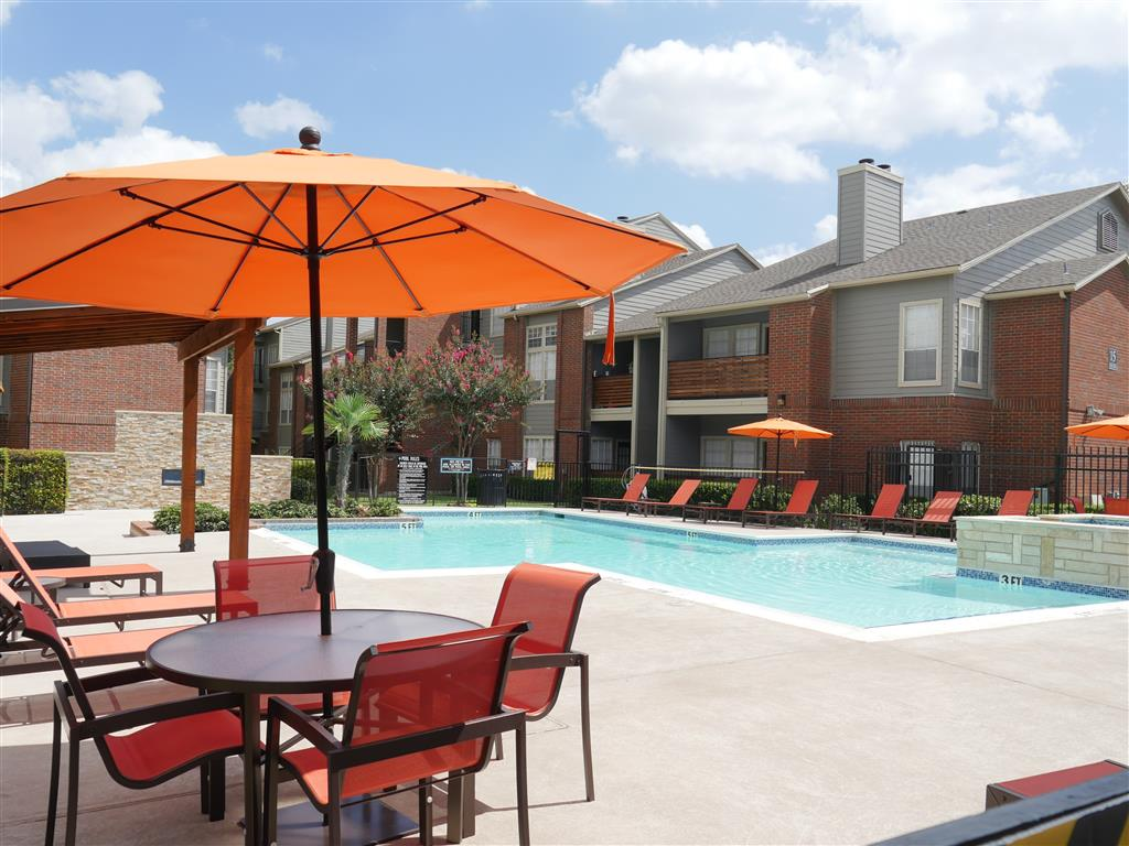 Swimming Pool with Lounge Chairs at Veridian Place, TX, 75289