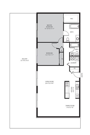 2 Bedroom / 2 Bath - D