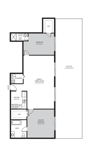 2 Bedroom / 2 Bath -  E