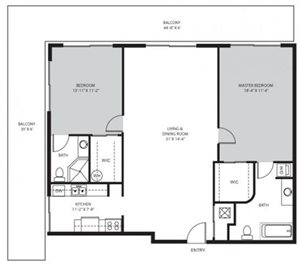 2 Bedroom / 2 Bath - B1