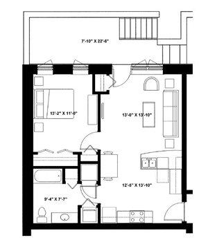 One Bedroom Garden P1