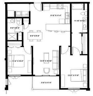 Two Bedroom Two Bath I