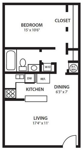 Twenty 35 Apartment Homes, Tampa, Safety Harbor FL 34695 A1 Floorplan at Twenty 35