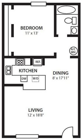 Twenty 35 Apartment Homes, Tampa, Safety Harbor FL 34695 A3 Floorplan at Twenty 35