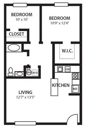 Twenty 35 Apartment Homes, Tampa, Safety Harbor FL 34695 B2 Floorplan at Twenty 35