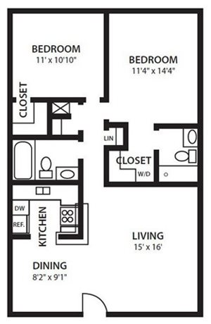 Twenty 35 Apartment Homes, Tampa, Safety Harbor FL 34695 B3 Floorplan at Twenty 35
