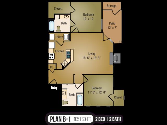 B-1 Floor Plan 4