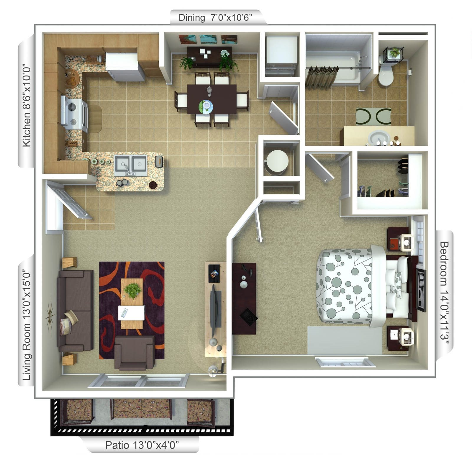 White Ibis Floor Plan 1