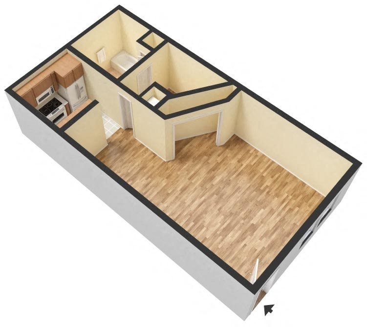 Studio Floor Plan 13