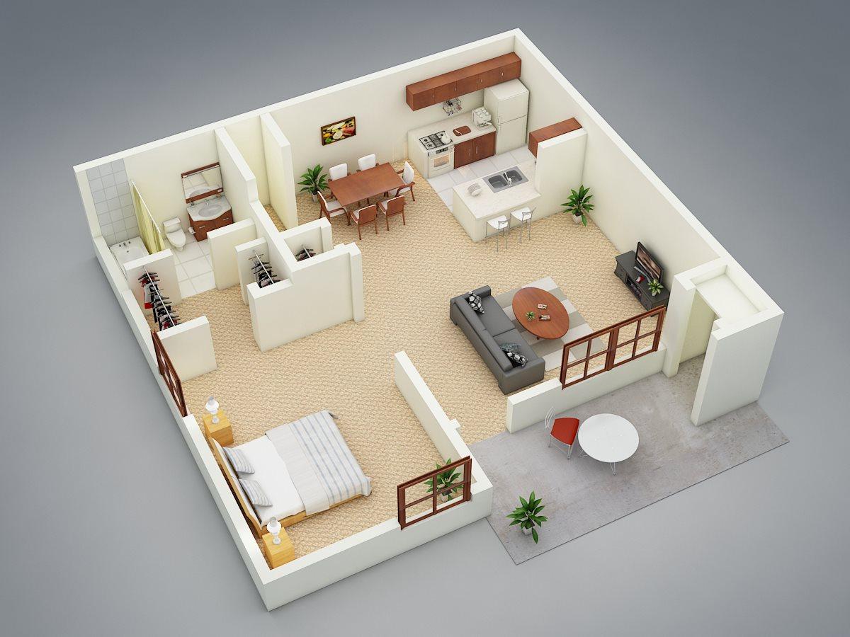 Sanford Landing Apartments 1 bed 1 bath garden unit