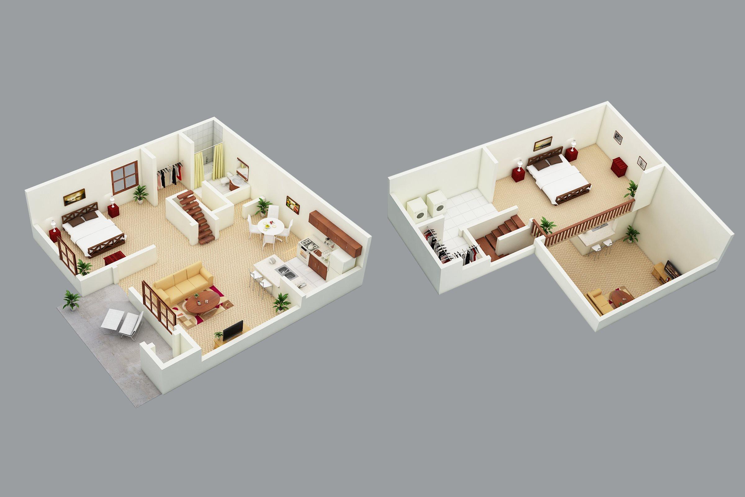 Sanford Landing Apartments 2 bed 1 bath loft