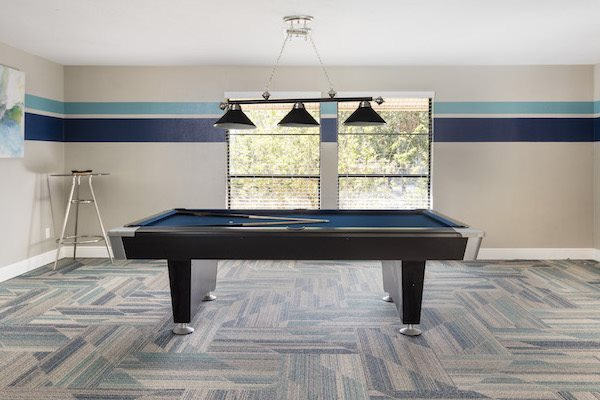 Sanford Landing Apartments in Sanford, FL 32771 relaxing game room with billiards