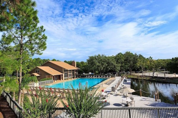 Sanford Landing Apartments in Sanford, FL 32771olympic pool with lake view