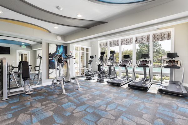 Whisper Lake apartments in winter park, orlando , florida  32792 24-hour fitness center with cardio and weights