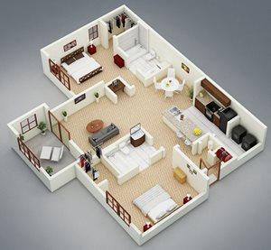 2 bedroom 2 bath Bridgewater Apartment Homes Huntsville, AL 35806