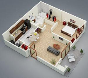 1 bedroom 1 bath Bridgewater Apartment Homes Huntsville, AL 35806
