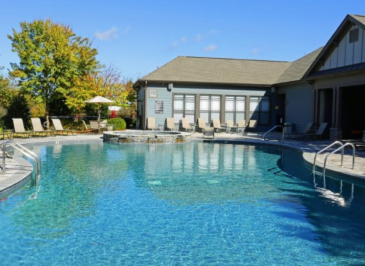 Bridgewater apartments in huntsville, al 35806 sparkling pool