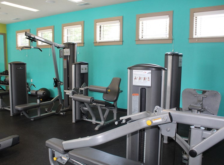 weight machines in fitness center