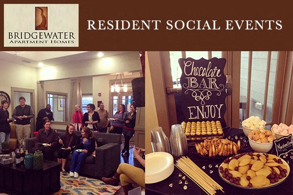 Bridgewater Apartment Homes Huntsville, AL 35806 resident social events held regularly