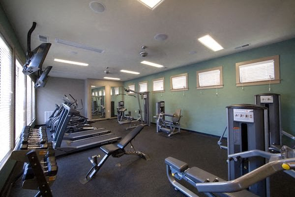 Bridgewater Apartment Homes Huntsville, AL 35806 fitness center with weight and cardio equipment