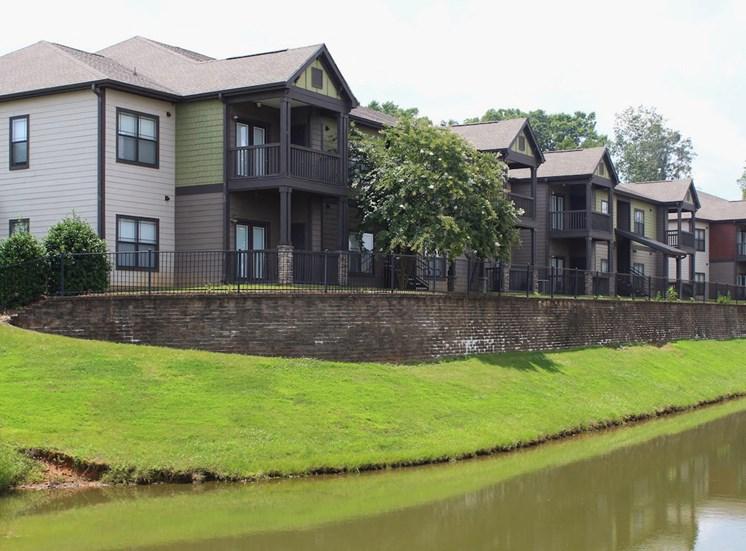 Bridgewater apartments in huntsville, al 35806 pond view