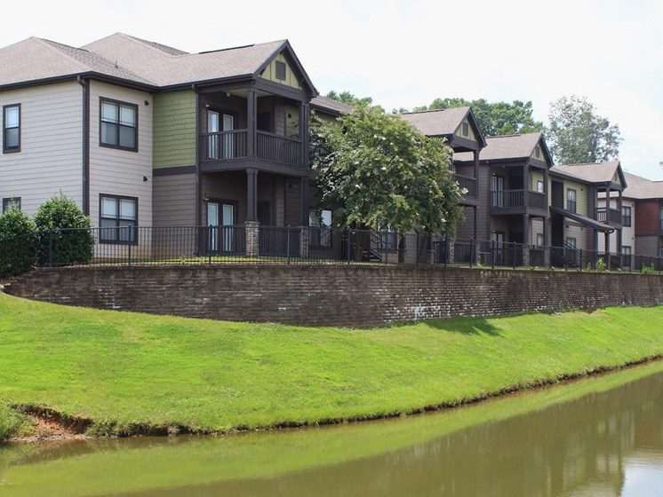 Bridgewater apartments in huntsville, al 35806 pond view