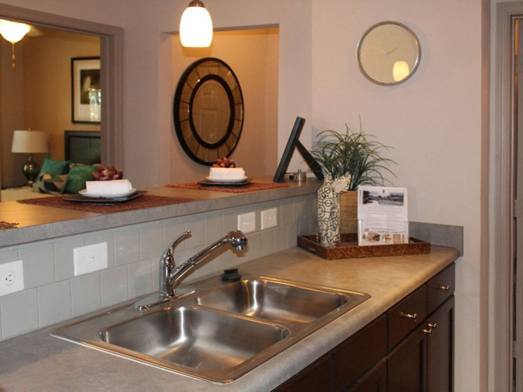 Bridgewater Apartments in Huntsville, Alabama stainless-steel sink