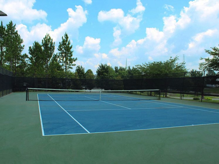 Bridgewater apartments in huntsville, al 35806 illuminated tennis court