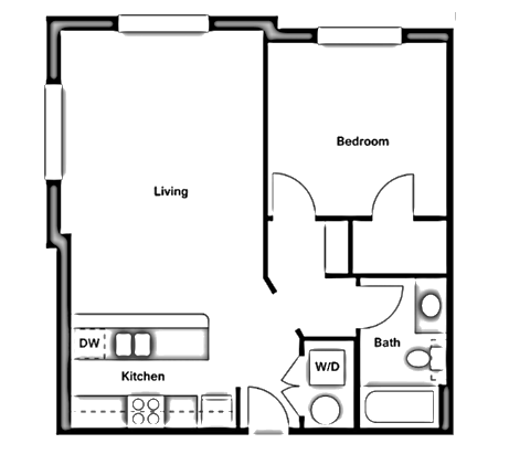 One Bedroom - A1-C