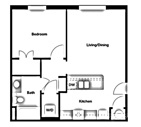 One Bedroom - A2