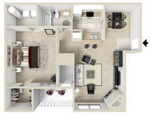 Dogwood Two Bedroom Floor Plan