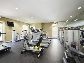 Fully Equipped Fitness Center at Legacy at Fort Clarke apartments in Gainesville, Florida 32606