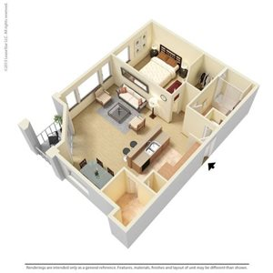 Harrison Floorplan at Legacy at Fort Clarke apartments in Gainesville, Florida 32606