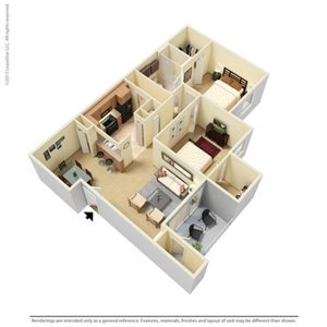 Jennings Floorplan at Legacy at Fort Clarke apartments in Gainesville, Florida 32606