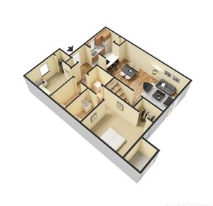 Two Bedroom/Two Bath