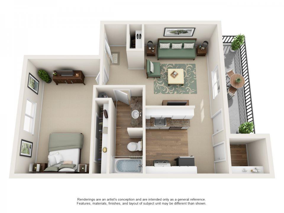 Montclair Terrace Apartment Homes - 1 Bedroom 1 Bath Apartment