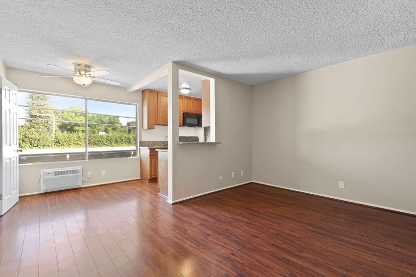 Hardwood Floors in Living Room and Kitchen