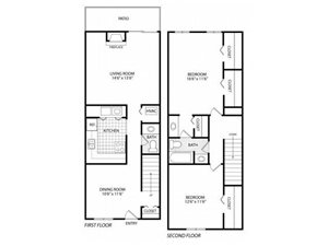 2 BR Townhouse